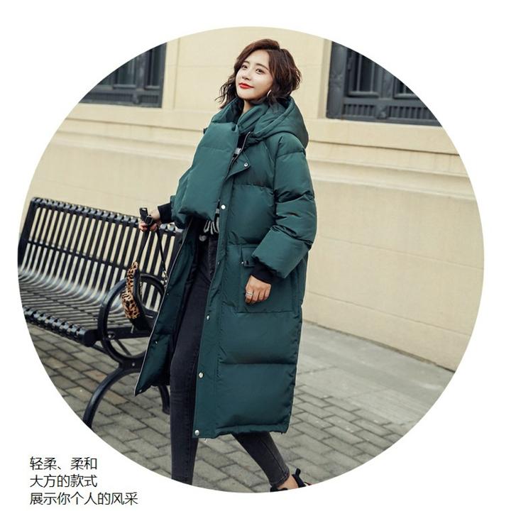 美丽啪长款冬季保暖棉服免费试用