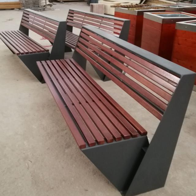 户外家具 休闲家具 广场休闲长椅 机场钢结构实木座椅