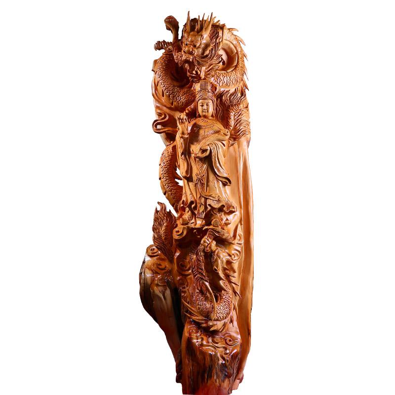 南溪之珠工艺品红木工艺品美哭了双龙妈祖护佑一方 真正的大师力作