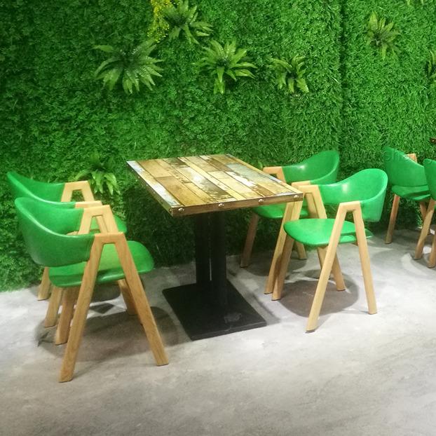 江門茶餐廳時尚餐桌餐椅定做 新會鐵藝餐桌椅來圖定制