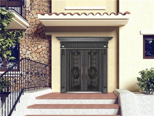 铸铝别墅庭院门|江盾门业放心企业|铸铝别墅庭院门厂家