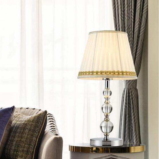 供应 欧式水晶台灯 创意简约装饰台灯 卧室床头灯