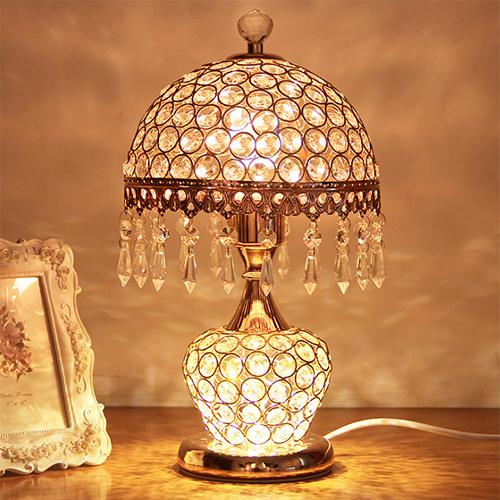 供应 欧式水晶台灯 卧室床头灯 现代简约客厅装饰创意台灯