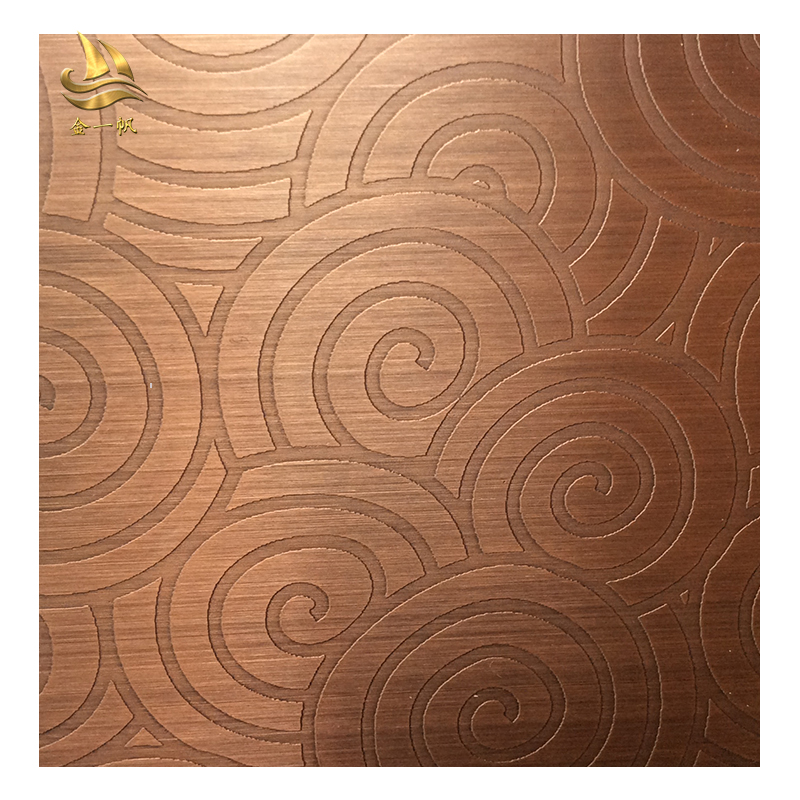 发黑做旧红古铜板 拉丝镀铜不锈钢板 酒店装潢彩色板定制