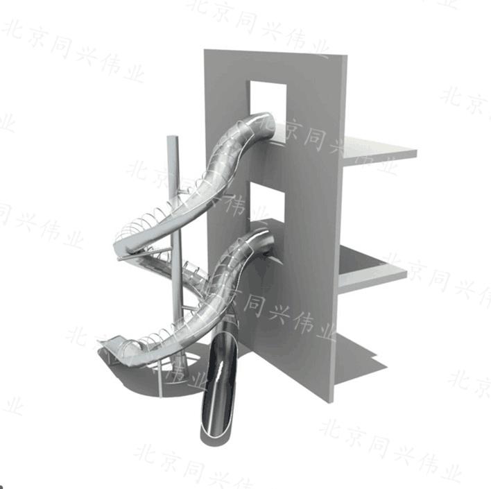 不锈钢户外滑梯  螺旋滑梯非标定制厂家直销 商场公园