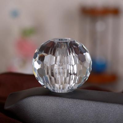 多面水晶球 灯饰玻璃配件 球穿孔玻璃水晶球工艺品