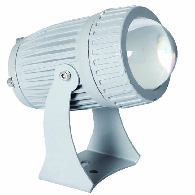 厂家供应LED一束光小射灯 10W单色七彩定制 酒店楼顶酒吧投光灯 园林窄光束射灯