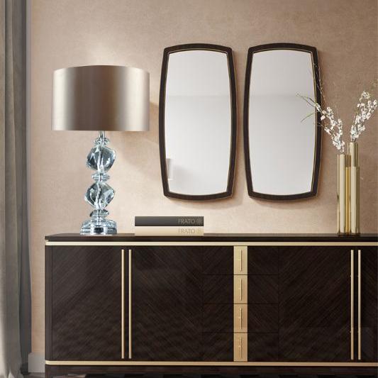 现代简约水晶台灯卧室床头灯结婚婚庆装饰时尚温馨创意灯具