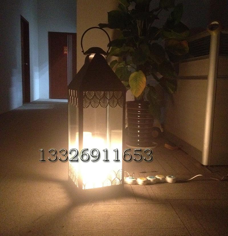 户外玻璃落地灯婚礼场地摆件烛台风灯可吊挂宫灯蜡烛灯特色欧式灯