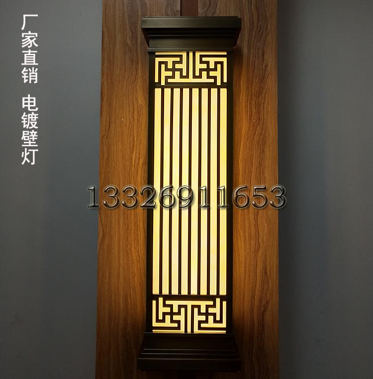 森隆堡灯饰专业定做电镀拉丝青古铜壁灯高档酒店会所门口壁灯新中式壁灯图片