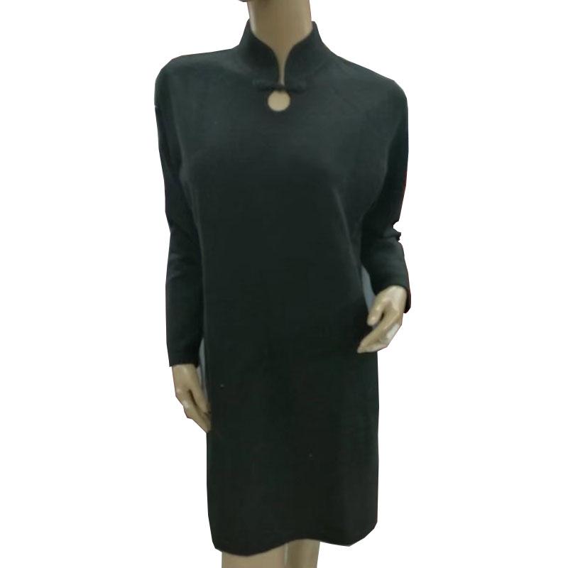 女装 针织衫毛衣 产地鄂尔多斯女士羊绒衫套头纯绒旗袍长裙半袖高档羊毛衫针织毛衣