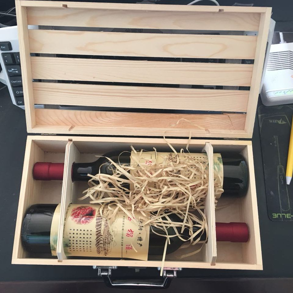 万千榴业 养生石榴酒  可1盒包邮  2瓶装