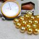 美尚珍珠  11-12.5mm南洋海水金珍珠吊墜含彩銀鏈 正圓強光無瑕疵 送女友送媽媽