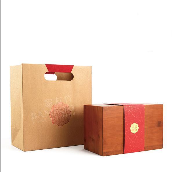 供应 家友竹 复古竹制包装岩茶红茶通用茶大容量茶包装