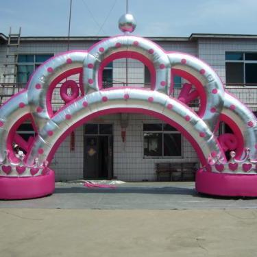 烟台气模厂直销 皇冠婚礼庆典拱门 卡通宣传商业拱门 可定做