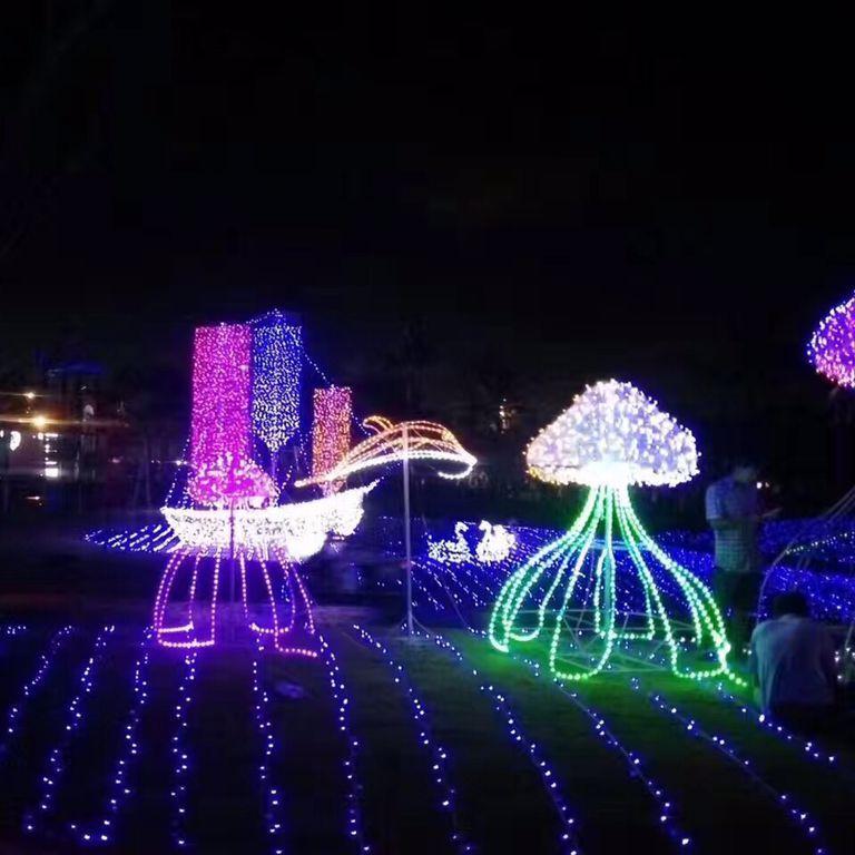 中国网库 商务服务 展览服务 展览设计制作 夜晚灯光秀主题展制作灯展图片