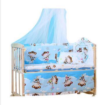 实木婴儿床 多功能新生儿童床摇篮宝宝 一件代发