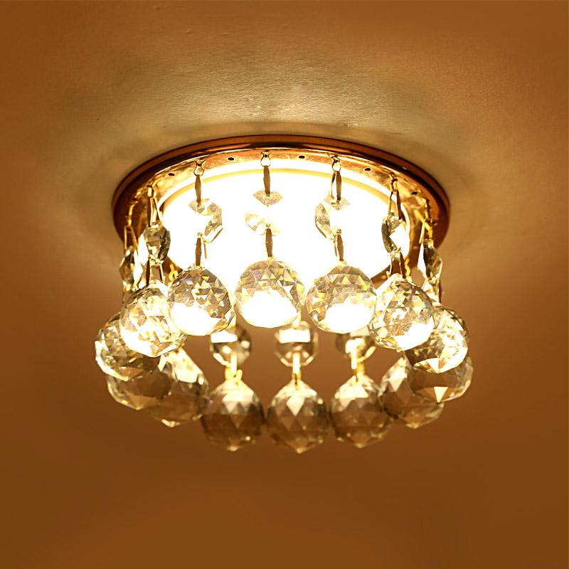 供应 水晶天花灯 水晶射灯 背景墙 过道灯 led筒灯 阳台客厅玄关灯 GX5323