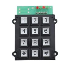供应特种电话机金属按键12位数字锌合金键盘B501
