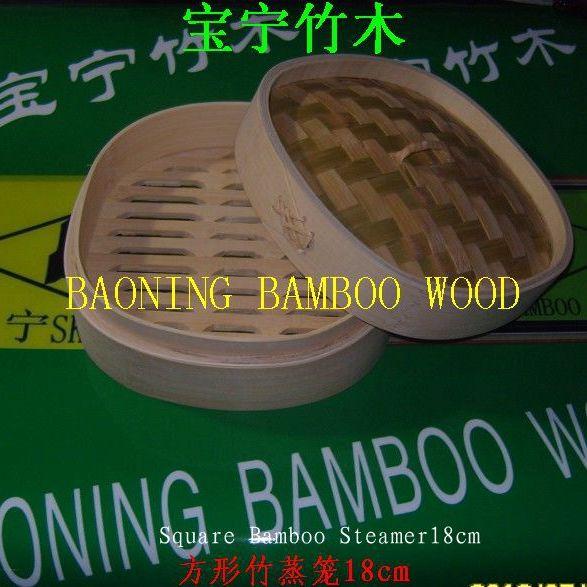 餐饮方形竹蒸笼18cm