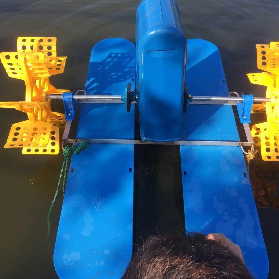 三相YC-1.5kw 四叶轮水车式增氧机