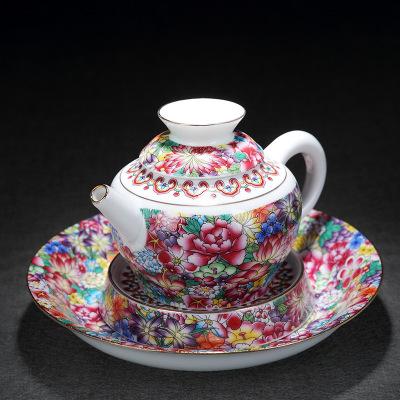 供应 景德镇 珐琅彩陶瓷 茶壶