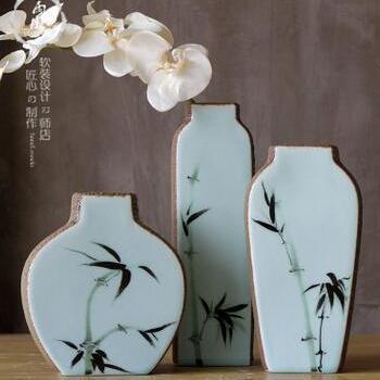 供应 创意窑变瓷气泡磨砂摆件陶瓷花插花瓶