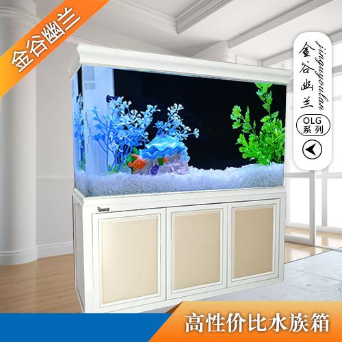 新乡金谷幽兰批发OLG-80高性价比  高颜值鱼缸水族箱玻璃鱼缸中小型生态鱼缸