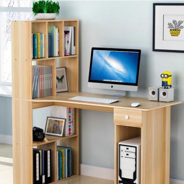 供应  单人转角办公桌写字桌卧室书桌书架组合