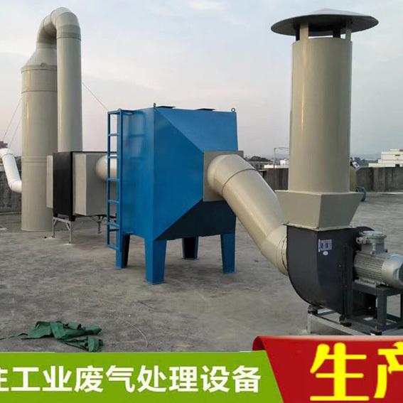 惠州锅炉除尘除烟设备废气处理成套喷淋塔净化塔