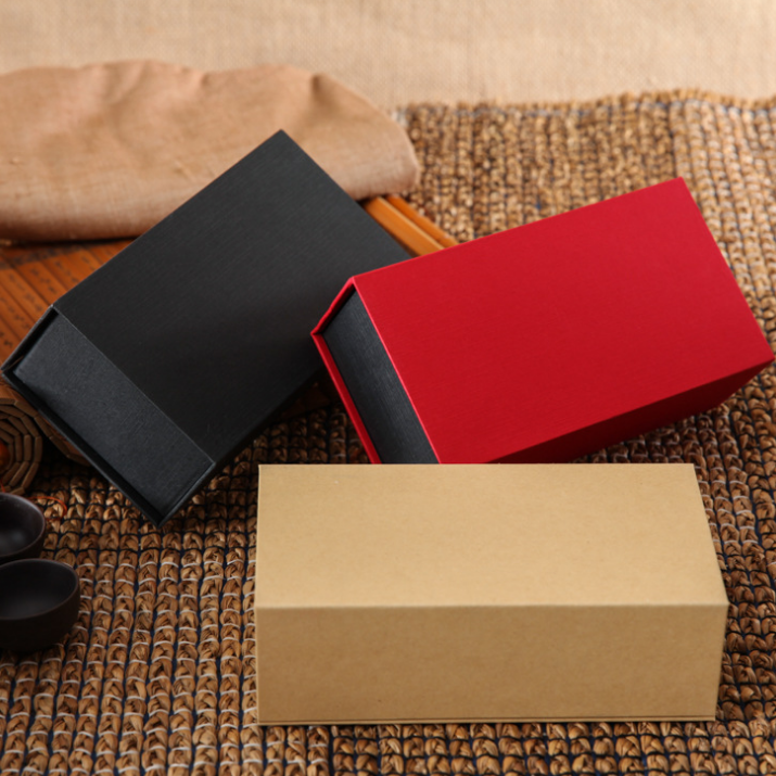 供应  现货化妆品首饰茶叶厂家定制 通用翻盖牛皮纸礼品盒 包装盒定做