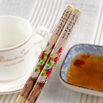 供应 中国风印花瓷筷