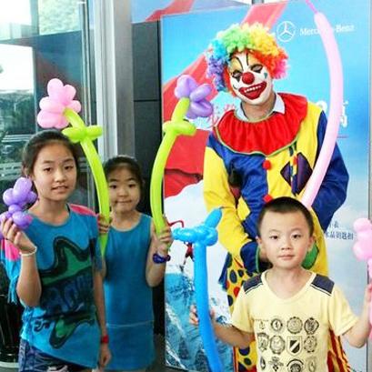上海小丑扎气球杂派对气球表演现场暖场DIY活动