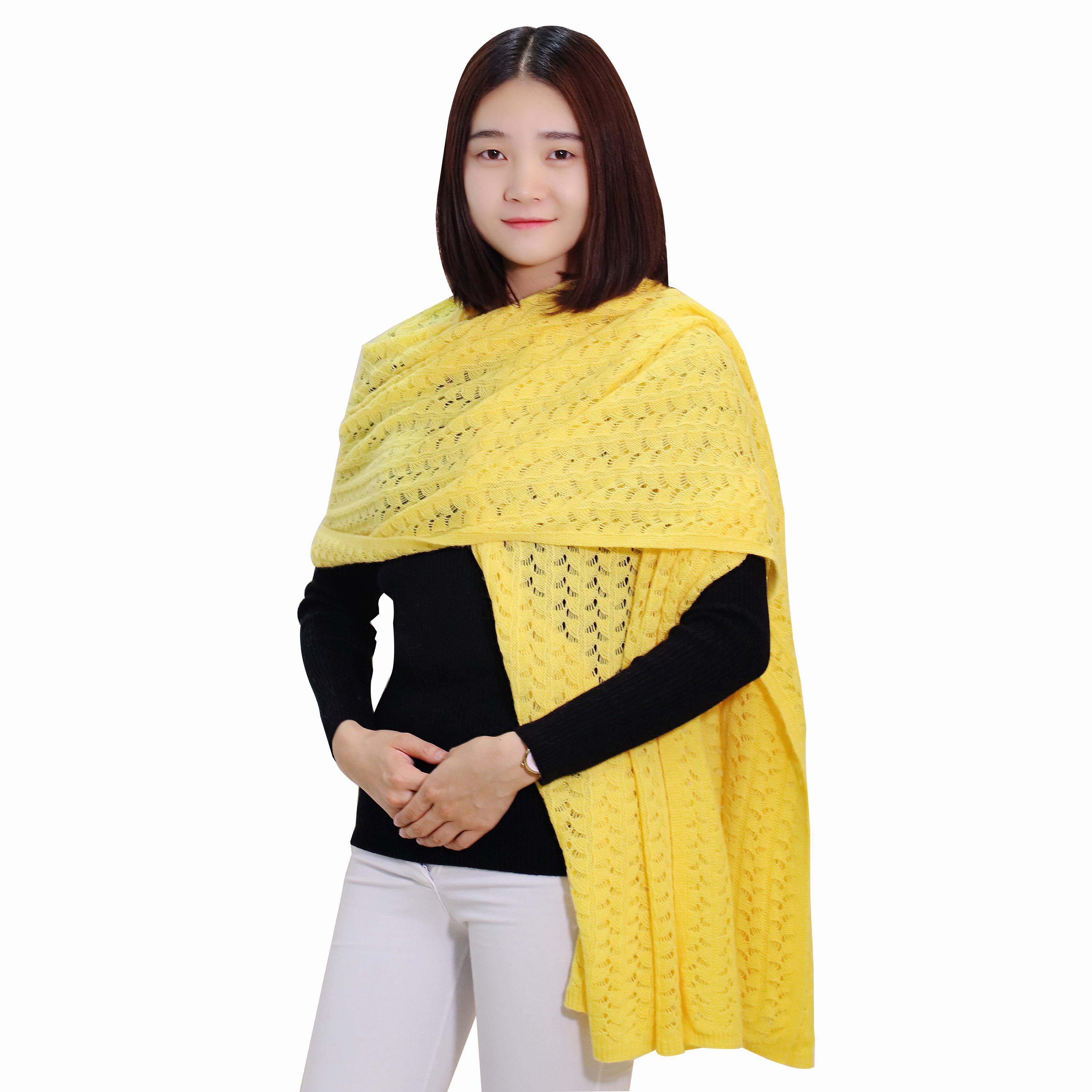 女士新款时尚纯色羊绒围巾