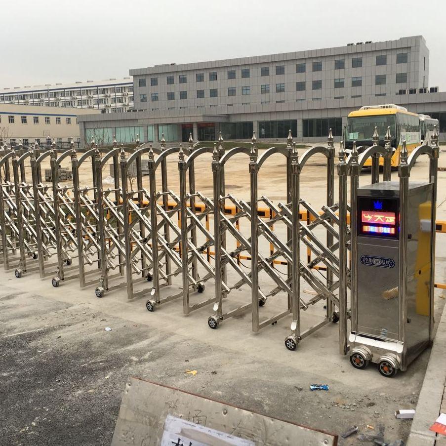 南京不锈钢电动门批发 不锈钢伸缩门批发 不锈钢电动门安装维修