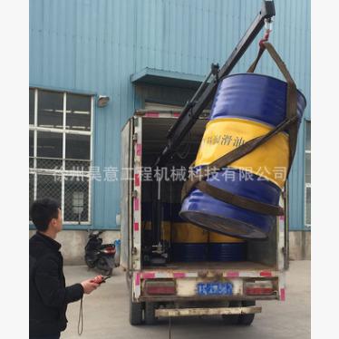 供应 0.8吨1吨折臂式厢货起重机 小型液压折臂吊 物流专用小吊