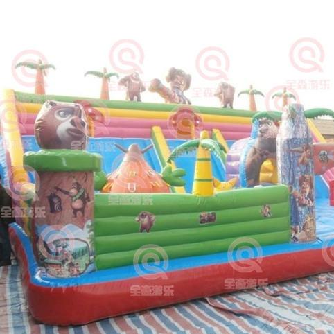 信阳大型充气城堡蹦蹦床 儿童室外健身陆地充气滑梯 充气城堡跳跳床