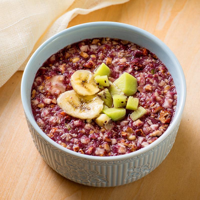 紫薯魔芋代餐粥五谷杂粮粉红豆薏米粉即食早餐魔芋粉