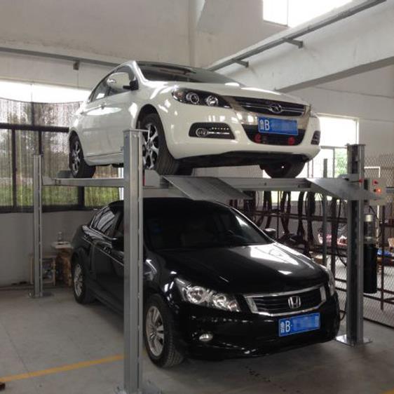 供应 家用四柱双层立体车库 电动液压升降停车位图片