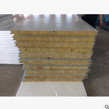 供应 岩棉彩钢板包安装 隔墙 岩棉彩钢夹芯板 彩钢板隔墙