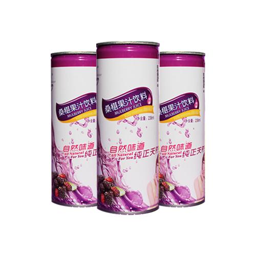 原滋原味桑葚汁 帅源牌桑葚饮料 饮料 易拉罐装