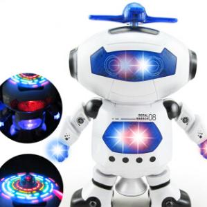 智能机器人玩具 电动跳舞益智音乐儿童男孩女孩礼物 劲风炫舞者v