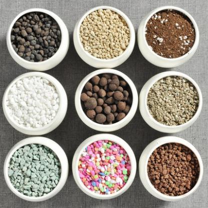 供应 多肉植物花盆铺面石多肉土营养土植物铺面石珍珠岩炭