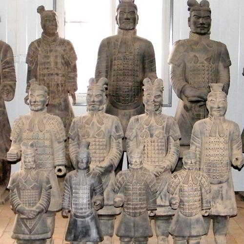 西安秦始皇兵马俑复制品 青铜器工艺品 将军俑兵马俑销售