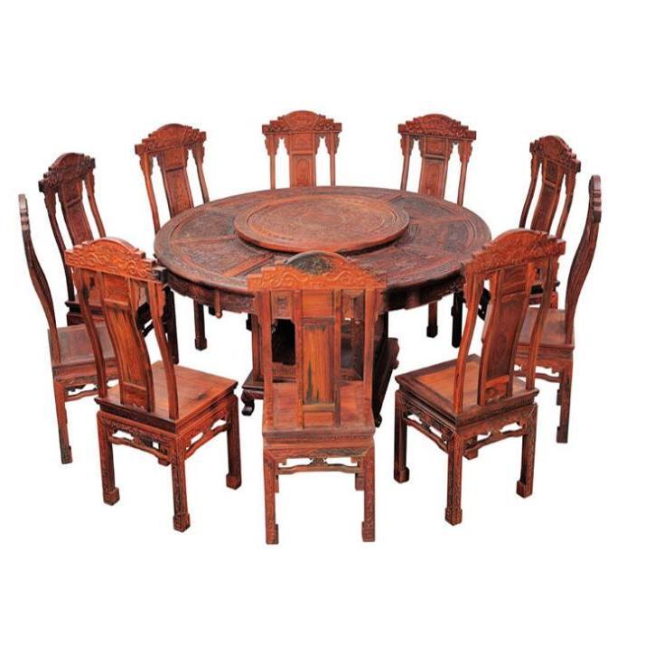 供应 实木餐桌红木家具红木餐桌红酸枝餐桌,1.8米圆台