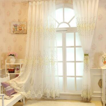 供应 欧式刺绣花窗帘