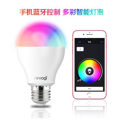 供应  Revogi智能家居蓝牙手机控制LED灯可调多彩色照明情调气氛灯泡