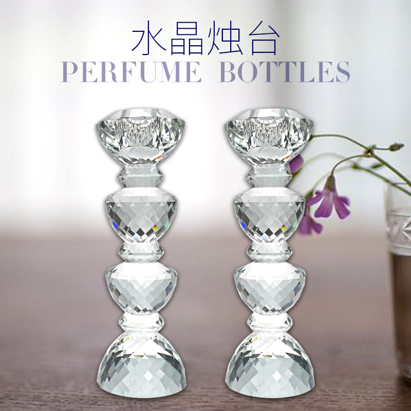水晶烛台 水晶工艺品 K9水晶 饰品摆件 水晶定制产品