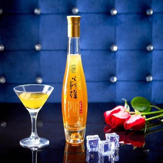 橙乡人血橙酒 果酒 25%低度数 女士酒 心想事橙 血橙露酒 北纬29°  275ml  一盒6瓶