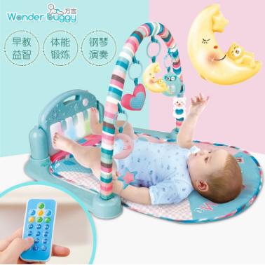 热卖合翔婴儿脚踏琴0至3岁钢琴益智音乐婴儿玩具健身架玩具批发